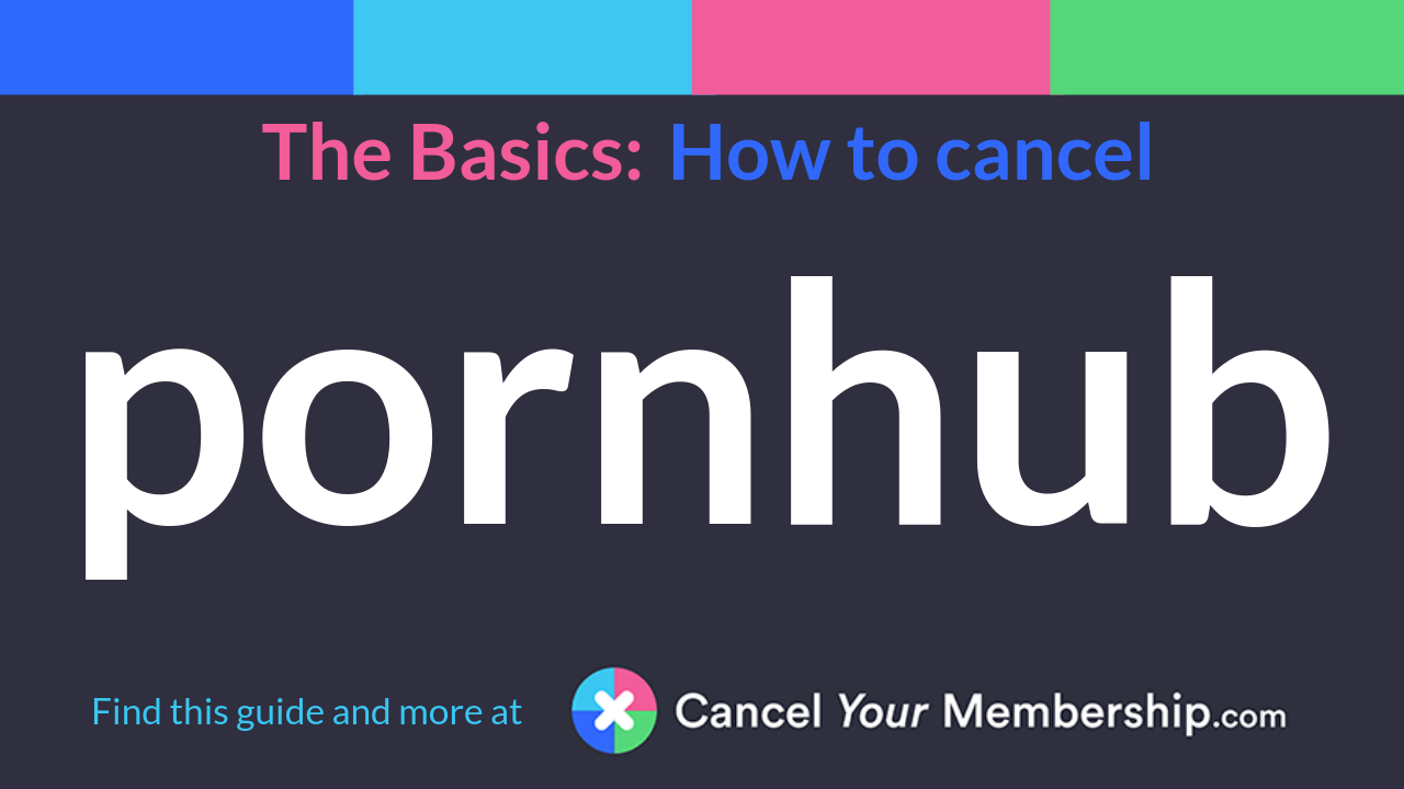 How to cancel pornhub premium membership